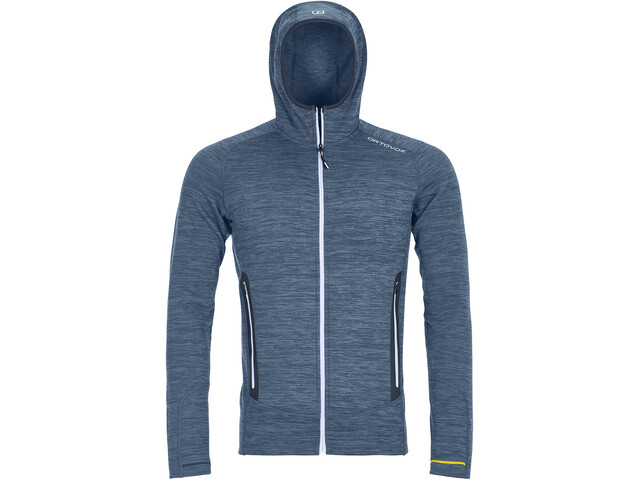 Ortovox Merino Fleece Light Melange Hoody Herr night blue blend